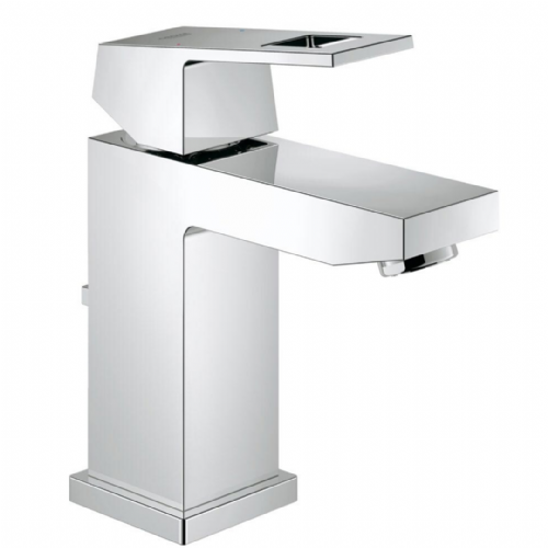 Grohe Eurocube Mono Basin Mixer with Pop-up Waste In Chrome - Model 23127000